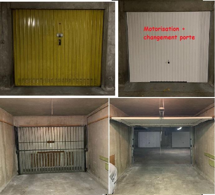 Changement porte garage + motorisation