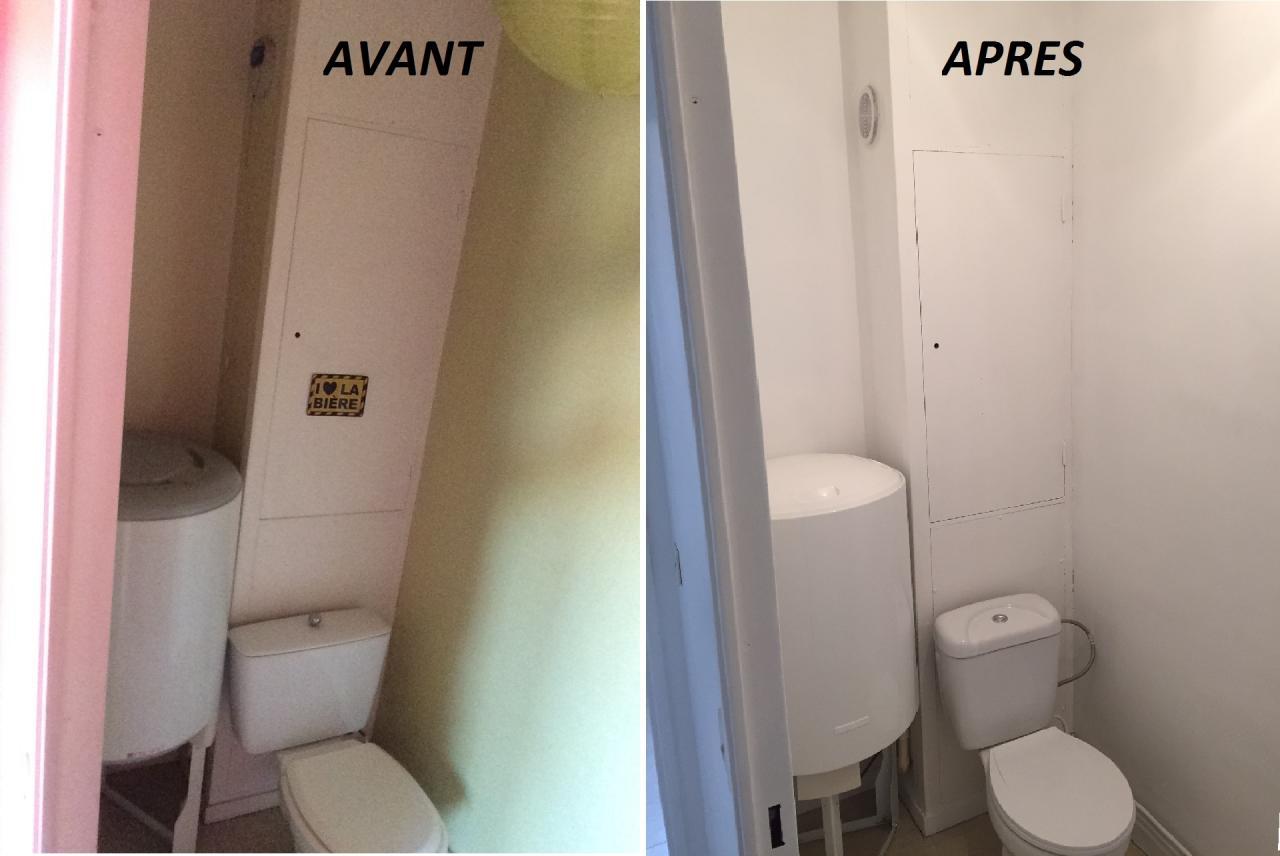 Peinture + changement wc